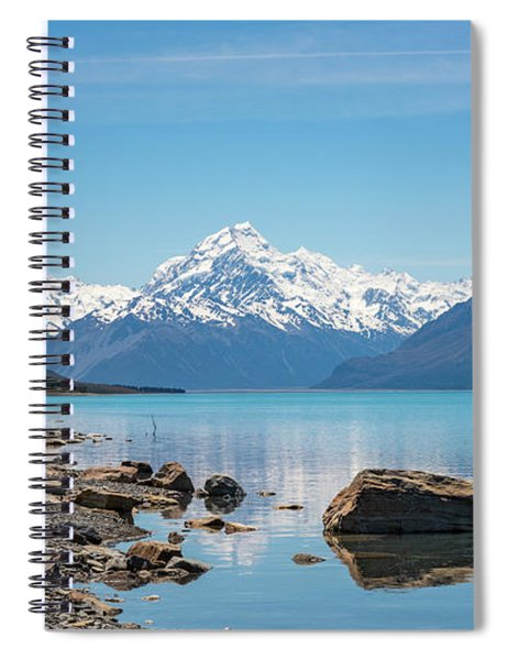 Mount Cook From Lake Pukaki Spiral Notebook