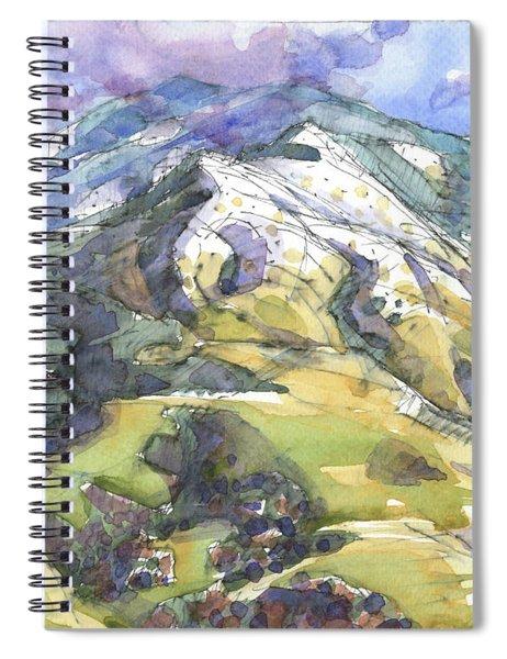 Mount Diablo With Snow Spiral Notebook