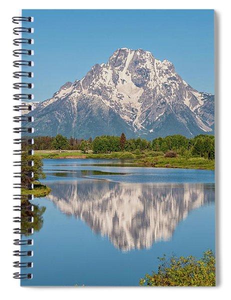 Mount Moran On Snake River Landscape Spiral Notebook