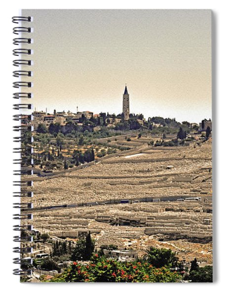Mount Of Olives With Tint And Texture Spiral Notebook