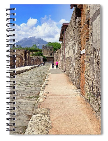 Spiral Notebook featuring the photograph Mount Vesuvius And The Ruins Of Pompeii Italy by Robert Bellomy