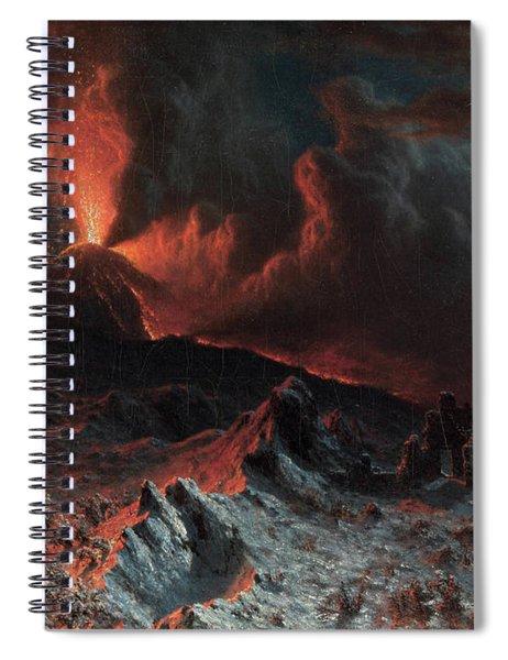 Mount Vesuvius At Midnight, 1868 Spiral Notebook