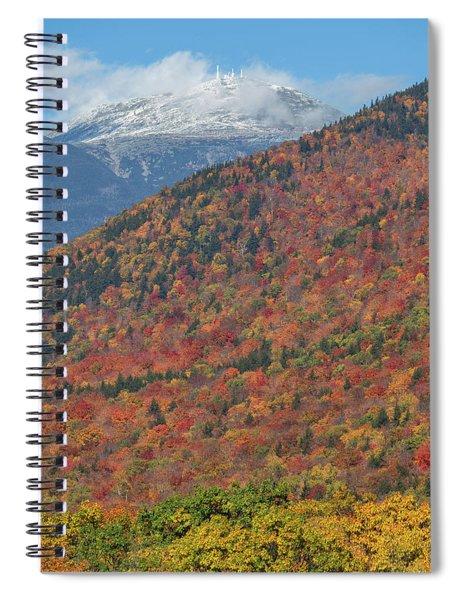 Mount Washington First Autumn Snow Spiral Notebook