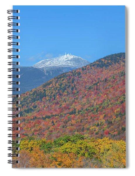 Mount Washington First Foliage Snow Spiral Notebook