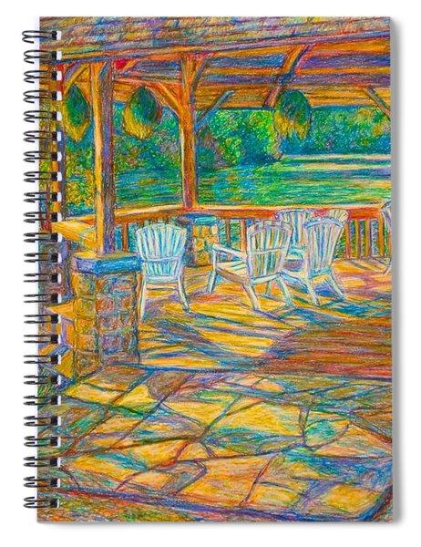 Mountain Lake Shadows Spiral Notebook