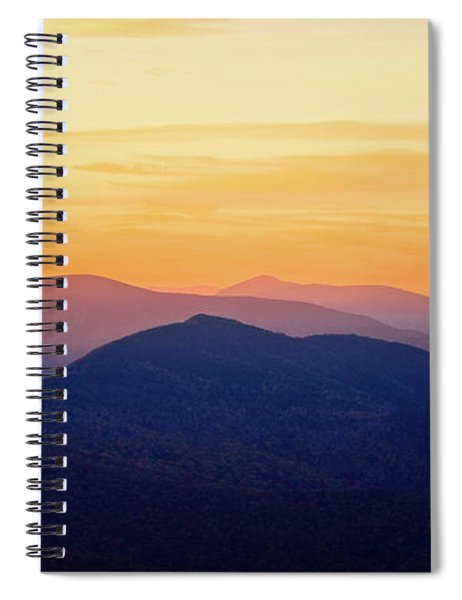 Mountain Light And Silhouette  Spiral Notebook