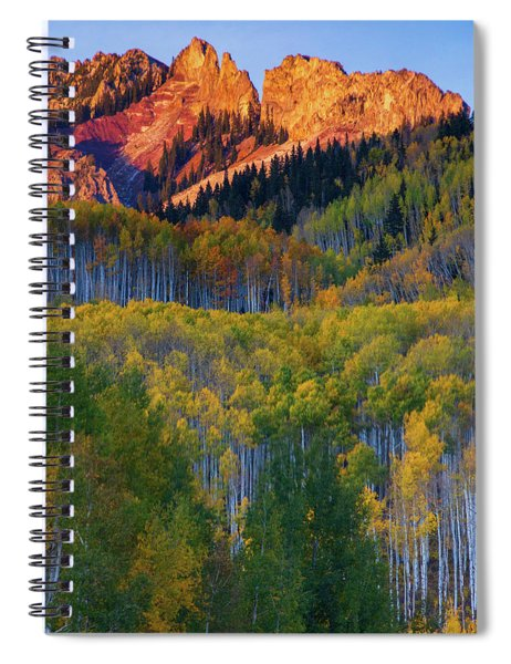 Spiral Notebook featuring the photograph Mountain Light by John De Bord