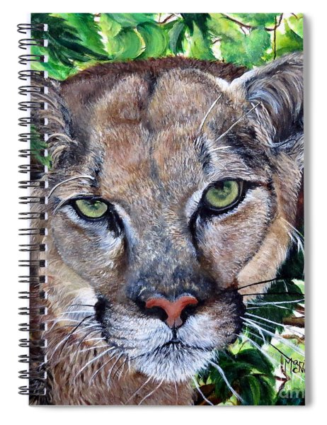 Mountain Lion Portrait Spiral Notebook