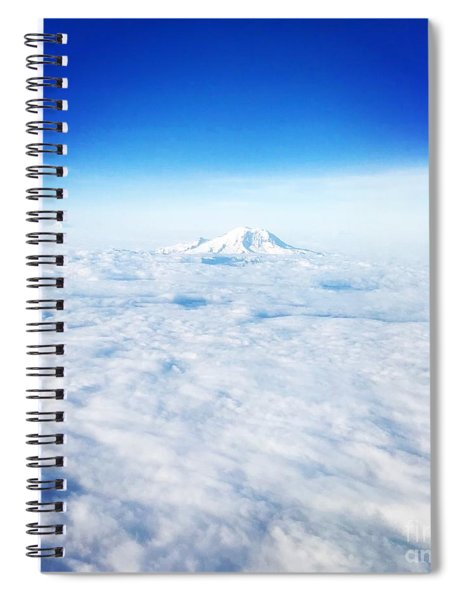 Mountain Peak In Blue Spiral Notebook