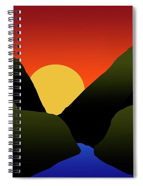 Mountain Sunset Spiral Notebook