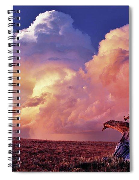 Mountain Thunder Shower Spiral Notebook