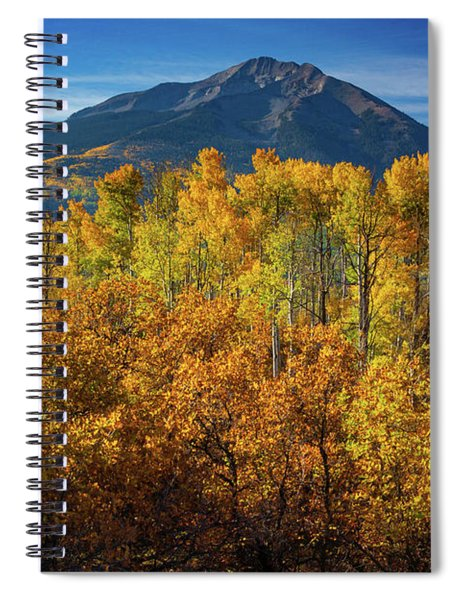 Spiral Notebook featuring the photograph Mountains And Aspen by John De Bord