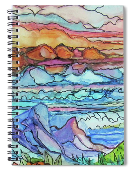 Mountains And Sea Spiral Notebook