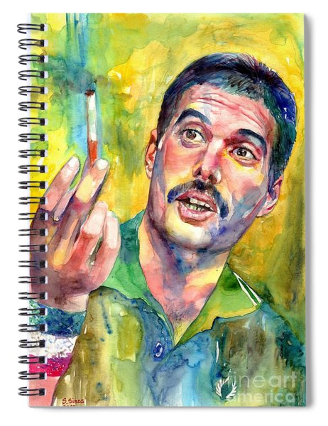 Mr Bad Guy - Freddie Mercury Portrait Spiral Notebook
