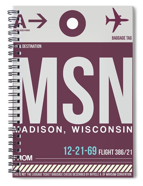 Msn Madison Luggage Spiral Notebook