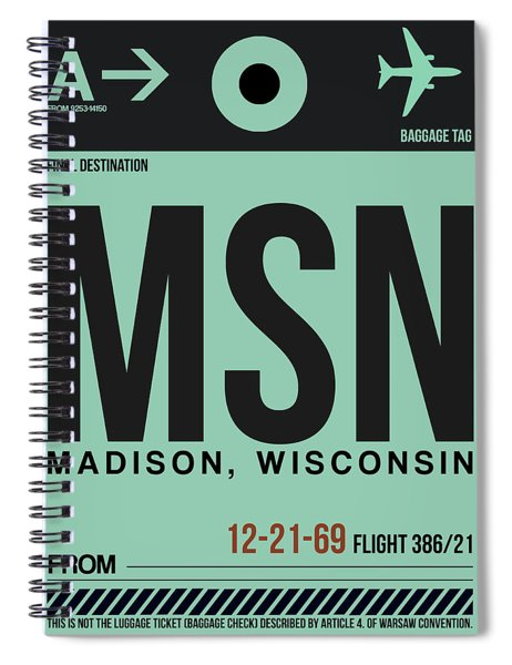 Msn Madison Luggage Tag I Spiral Notebook