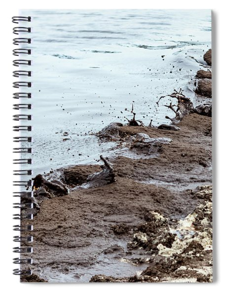 Muddy Sea Shore Spiral Notebook