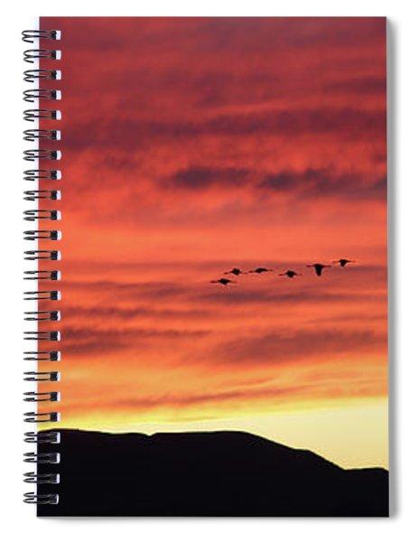 Mule Mountains Sunset Spiral Notebook