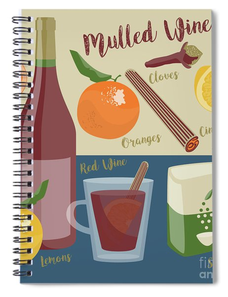 Mulled Wine Spiral Notebook
