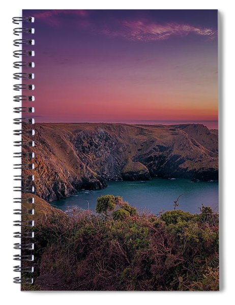 Mullion Cove Cornwall Sunset Spiral Notebook