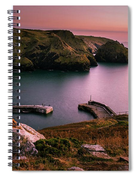 Mullion Cove Sunset - Cornwall General View Spiral Notebook