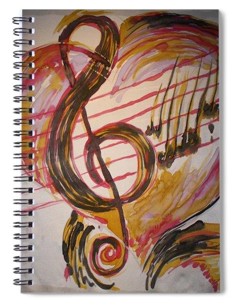 Music And Silklove Spiral Notebook