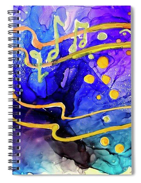 Music Playing Spiral Notebook