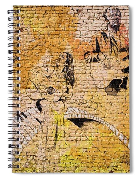 Musical Wall Mural Spiral Notebook