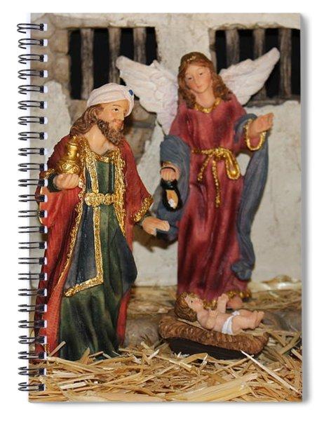 My German Traditions - Christmas Nativity Scene Spiral Notebook