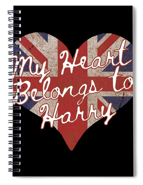My Heart Belongs To Prince Harry Spiral Notebook