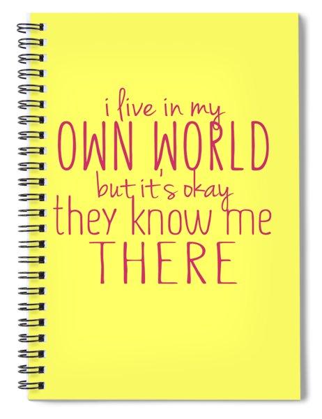 My Own World Spiral Notebook