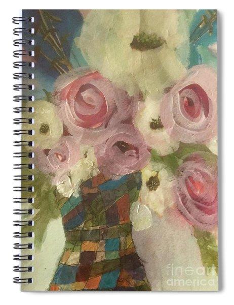 Vintage  Pink Roses Spiral Notebook