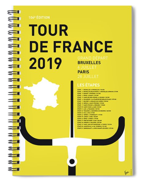My Tour De France Minimal Poster 2019 Spiral Notebook