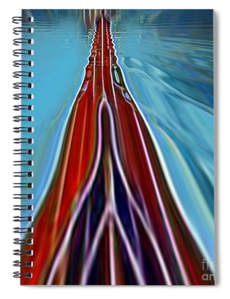 Spiral Notebook featuring the painting My Way by A zakaria Mami