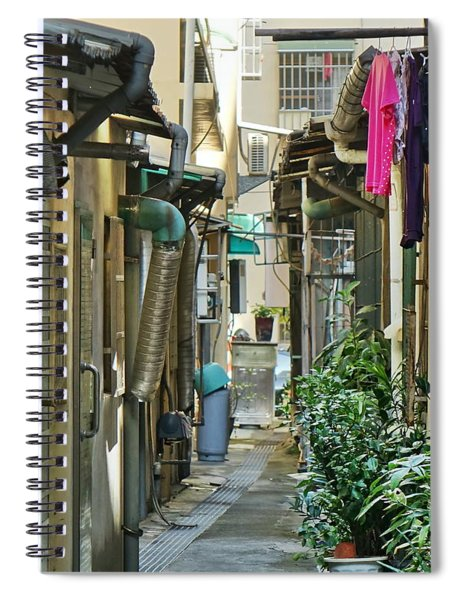Narrow Alley In Taiwan Spiral Notebook