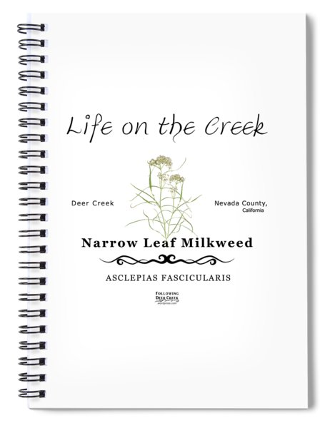 Narrow Leaf Milkweed Spiral Notebook