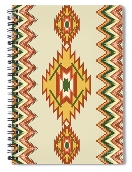 Native American Rug Spiral Notebook