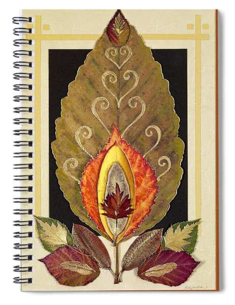 Spiral Notebook featuring the mixed media Nature In Balance by Koka Filipovic