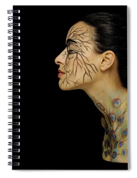 Spiral Notebook featuring the photograph Nature Runs Through My Veins by ISAW Company