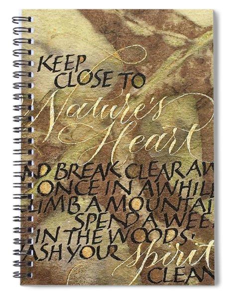 Nature's Heart Spiral Notebook