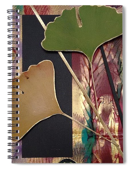 Spiral Notebook featuring the mixed media Natures Light by Koka Filipovic