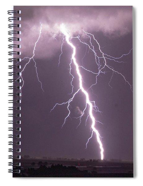 Nebraska Arcus And Lightning 046 Spiral Notebook