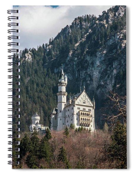Neuschwanstein Castle On The Hill 2 Spiral Notebook