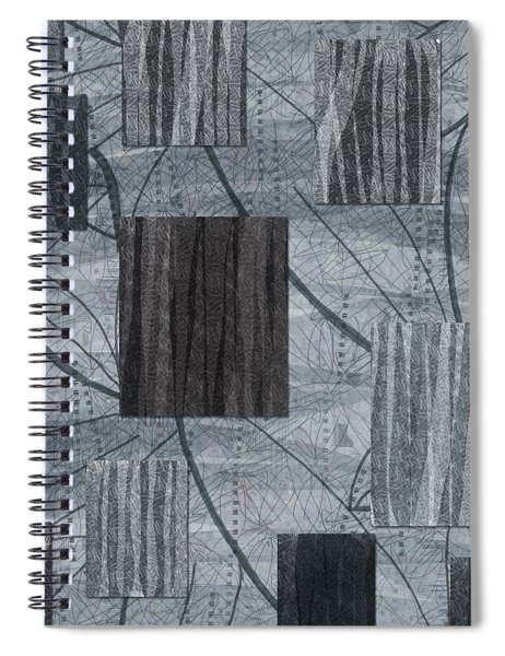 Neutral Toned Leaf Square Print Spiral Notebook