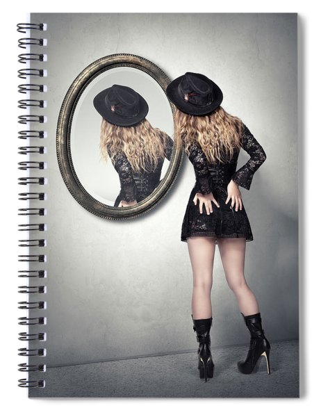 Never Look Back Spiral Notebook