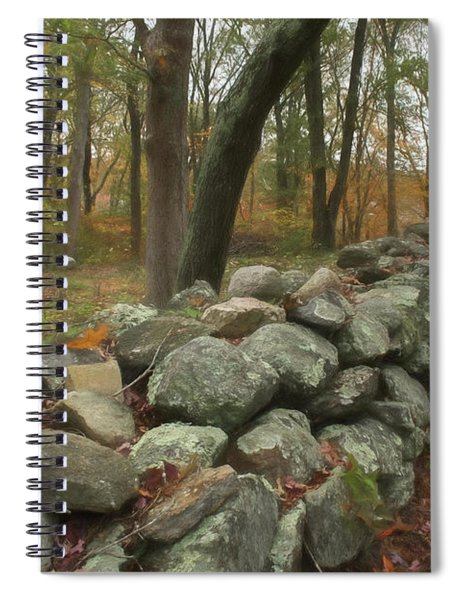 New England Stone Wall 1 Spiral Notebook