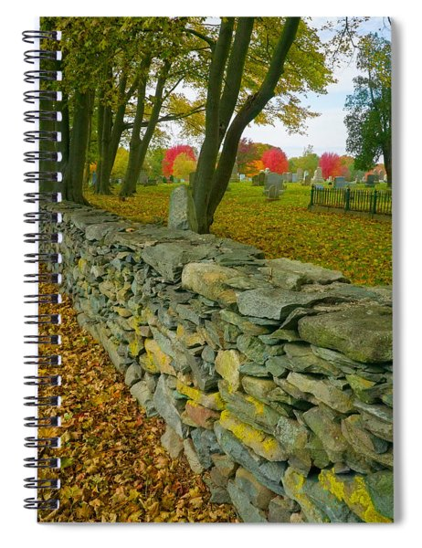 New England Stone Wall 2 Spiral Notebook