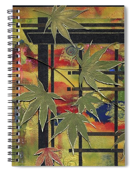Spiral Notebook featuring the mixed media New Path by Koka Filipovic