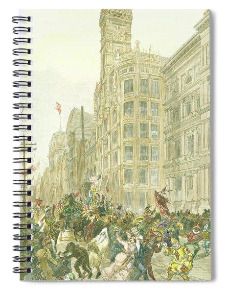 New Years Mummers On Chestnut Street Spiral Notebook