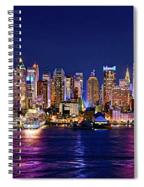 New York City Nyc Midtown Manhattan At Night Spiral Notebook